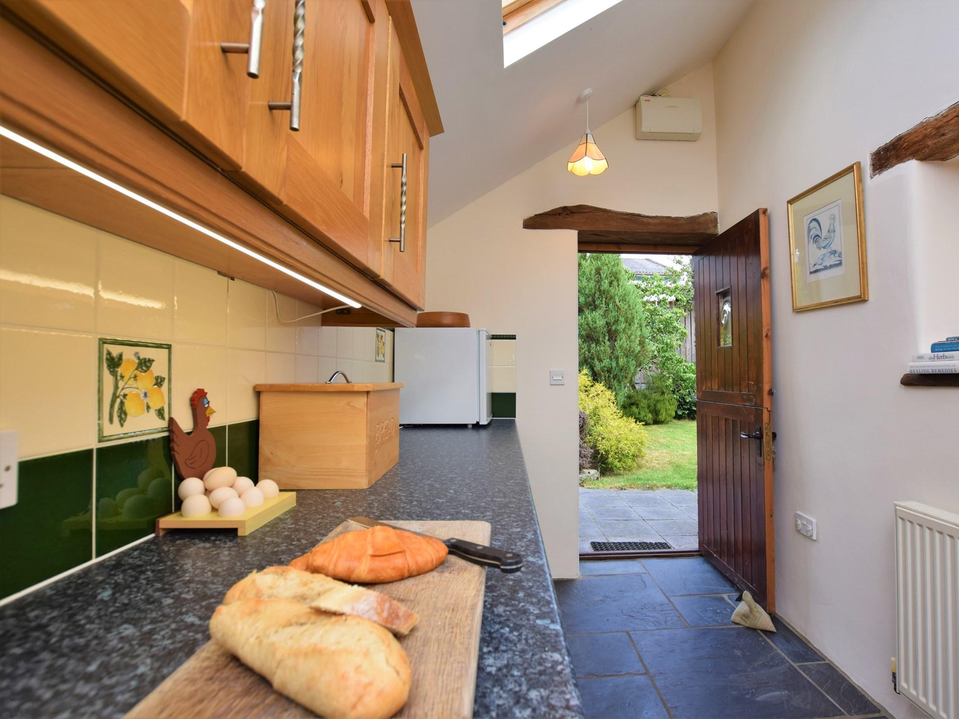 Kitchen with stable door to the garden