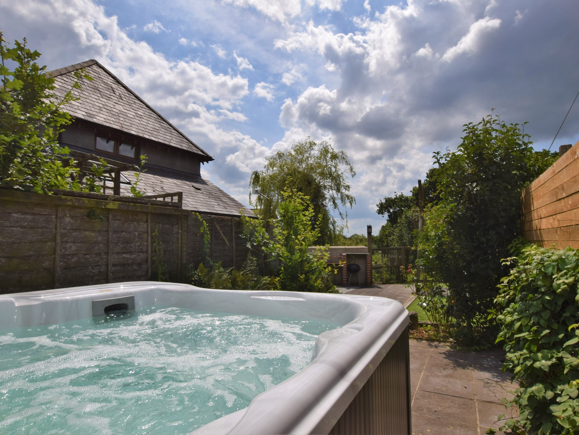 Relish in the hot tub for those special moments