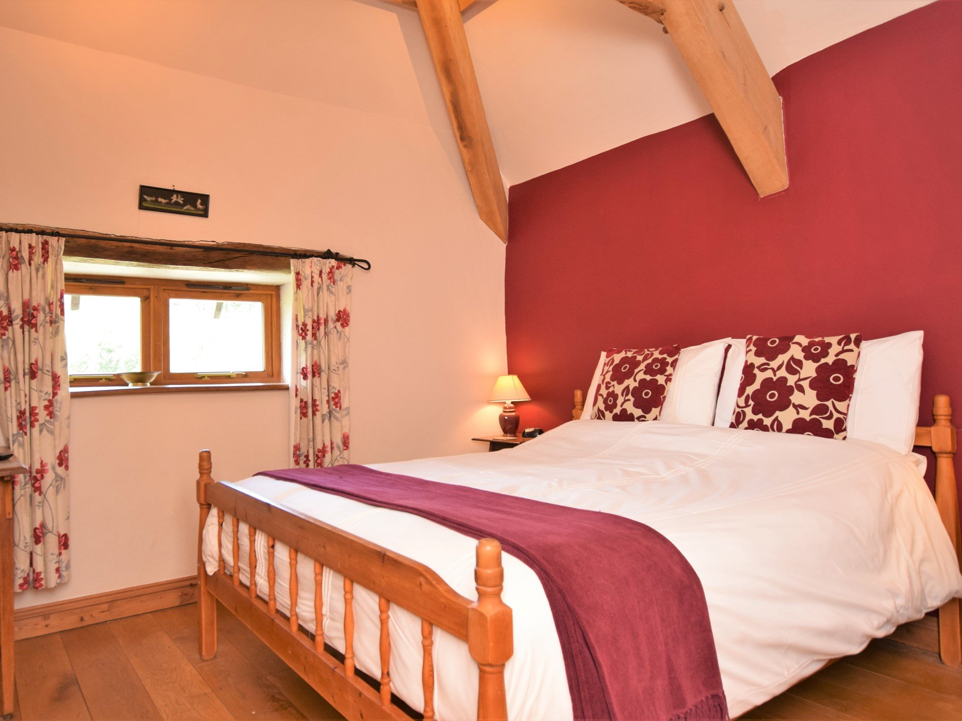 Master bedroom with wonderful views over the orchard