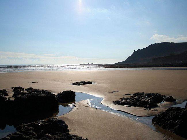 The beach, 30 minute walk