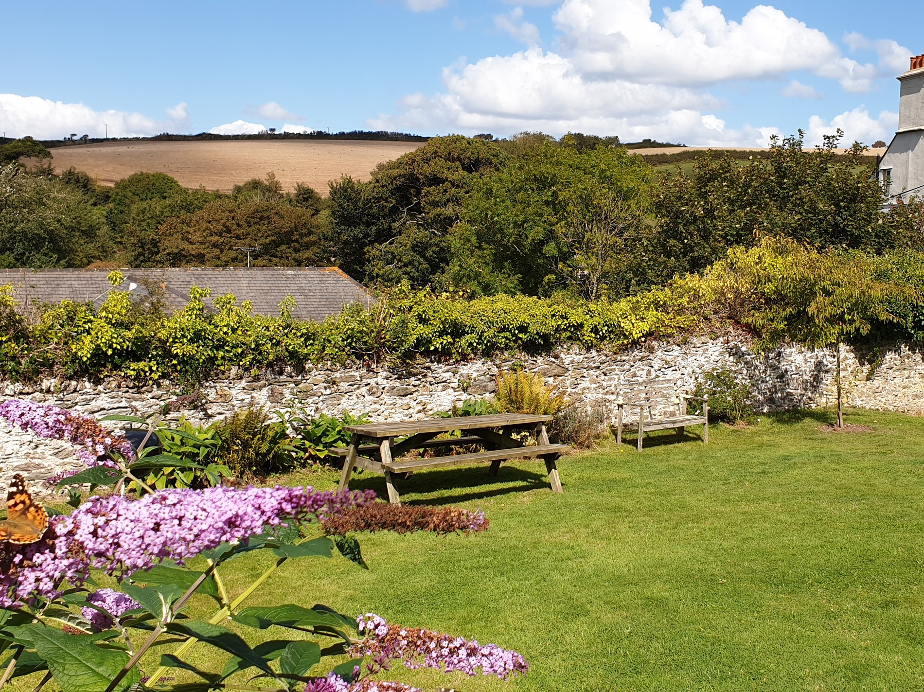 Relax and unwind in the shared enclosed garden