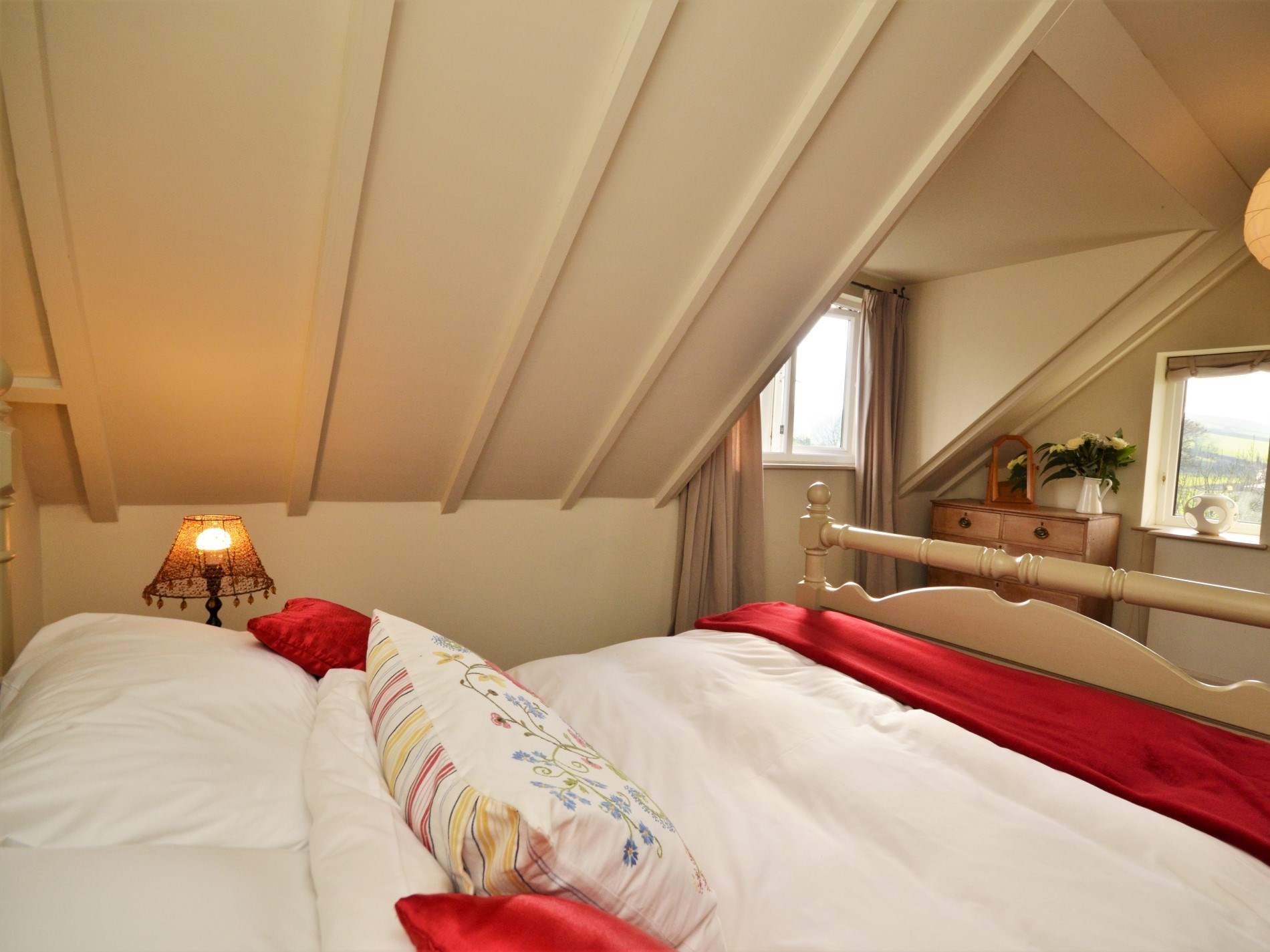 Spacious double room wiht a view