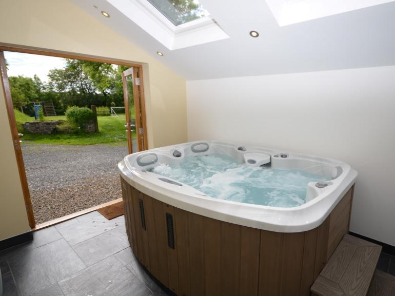Shared hot tub in seperate building