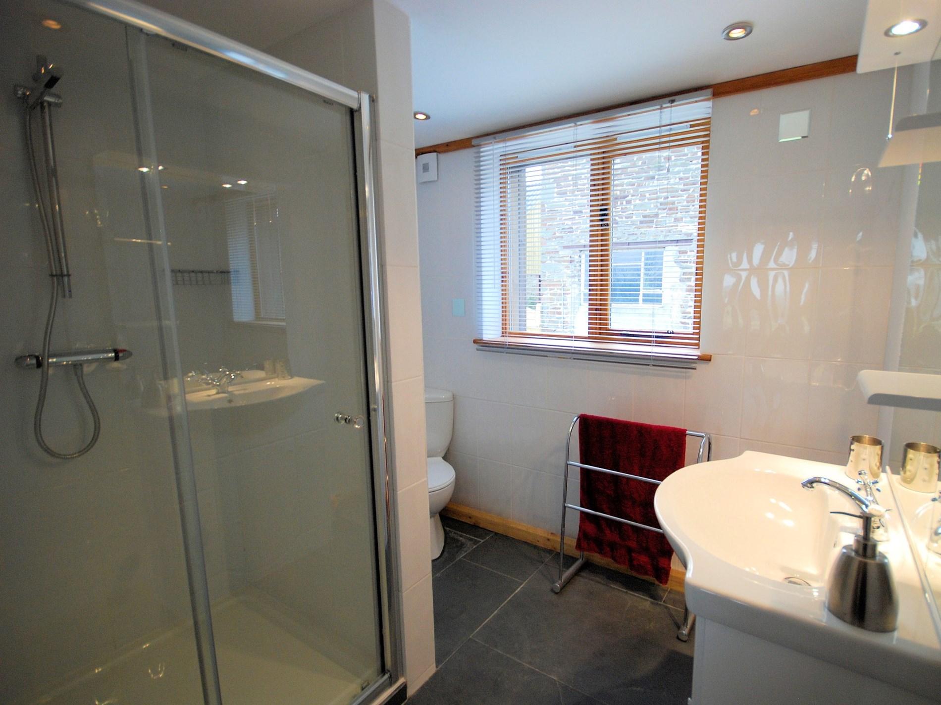 En-suite shower room with WC