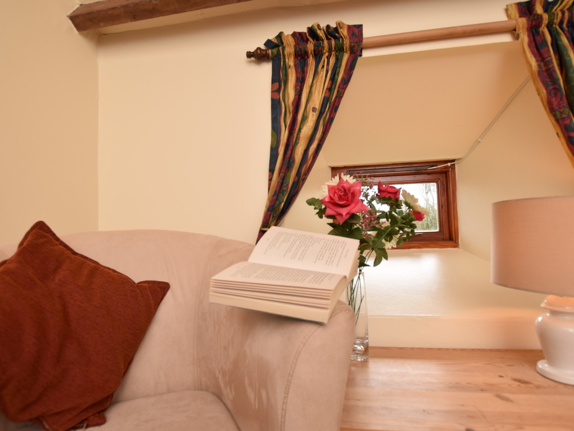 A place to read a book in the double bedroom