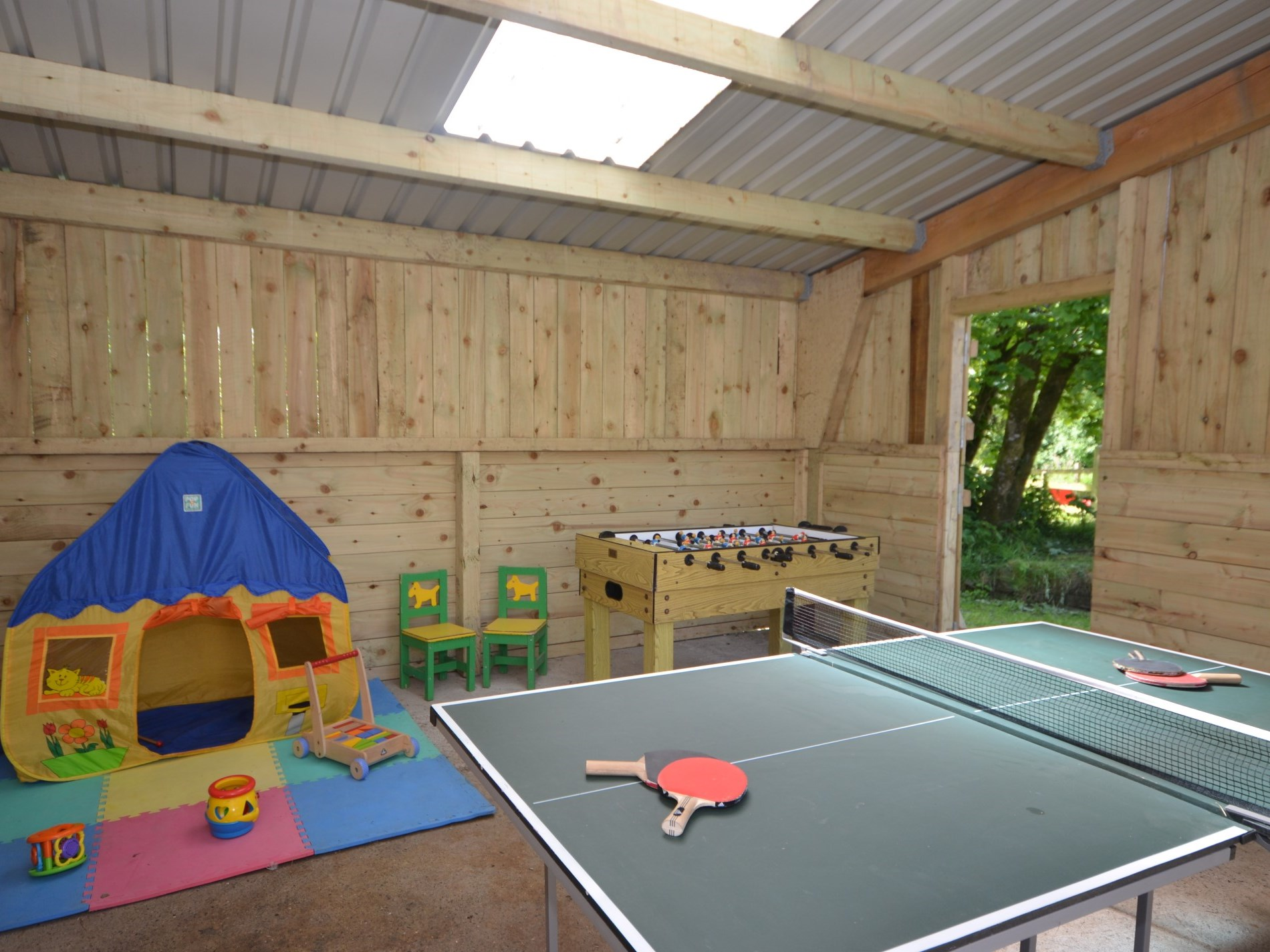 Games barn on site