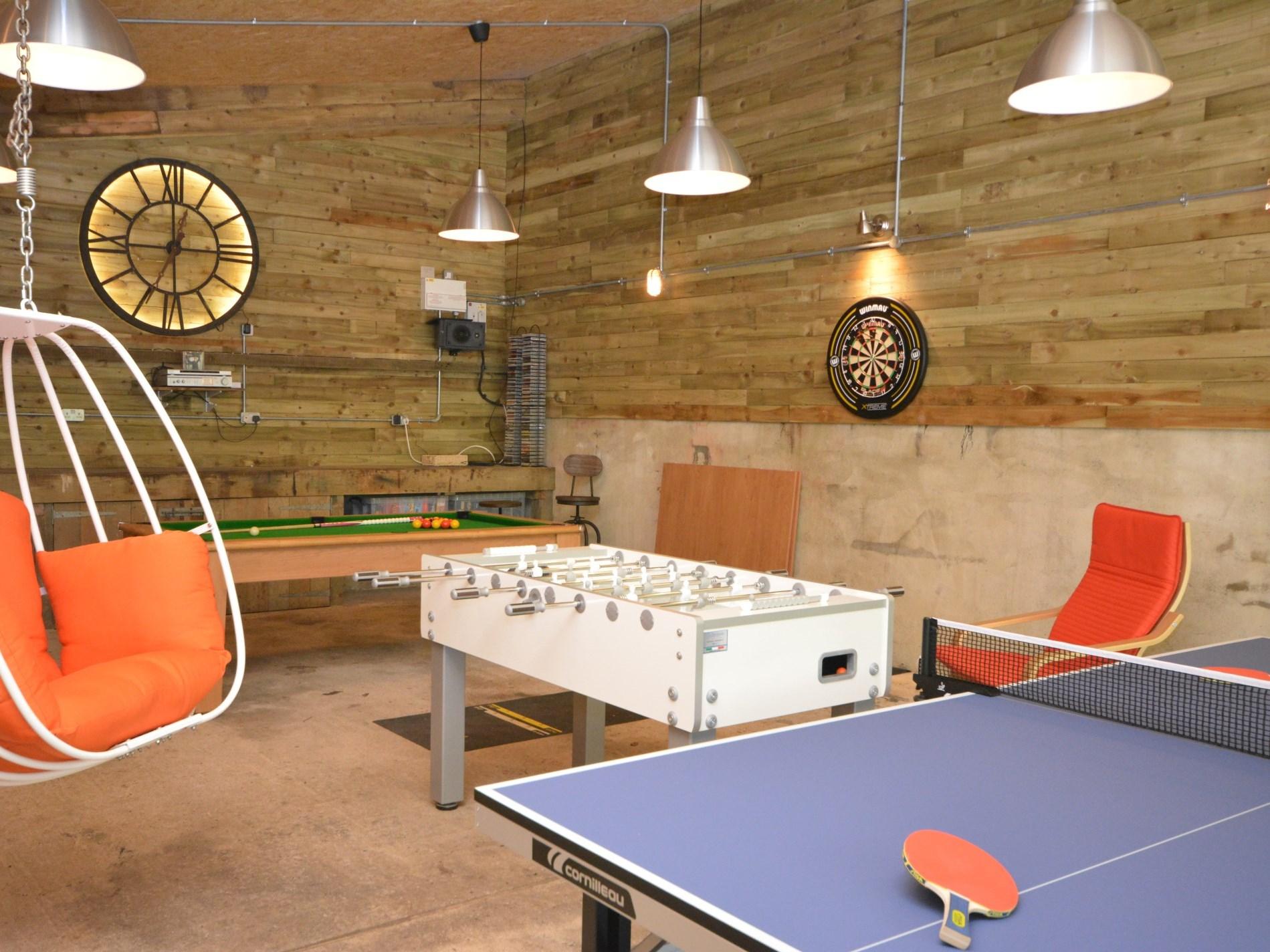 Indoor games room
