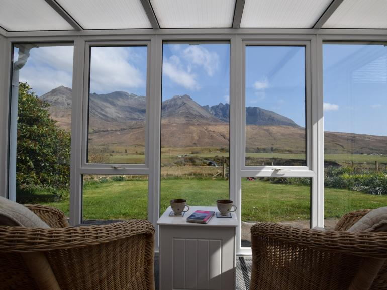 Relax and enjoy the stunning views to the Cullin Mountains