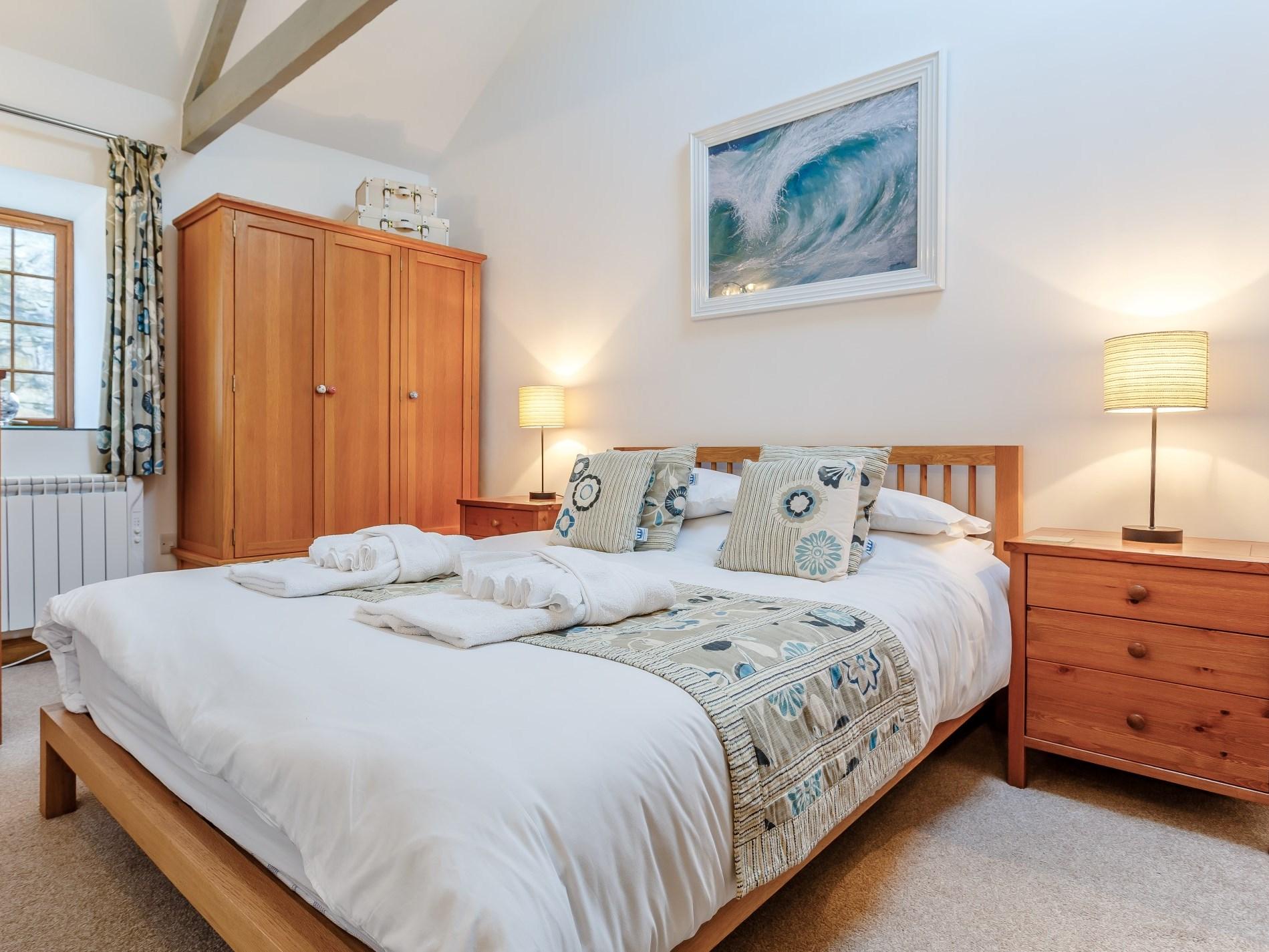 Spacious comfy master bedroom