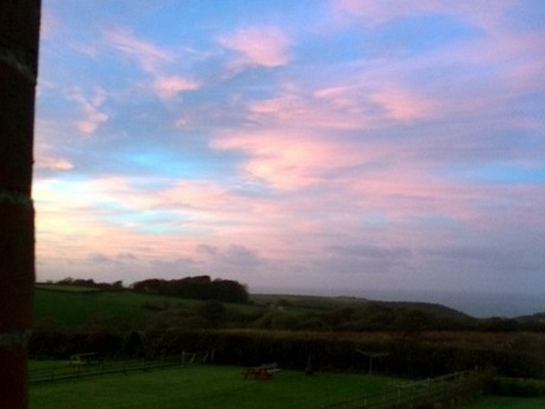 Stunning sunset over the garden