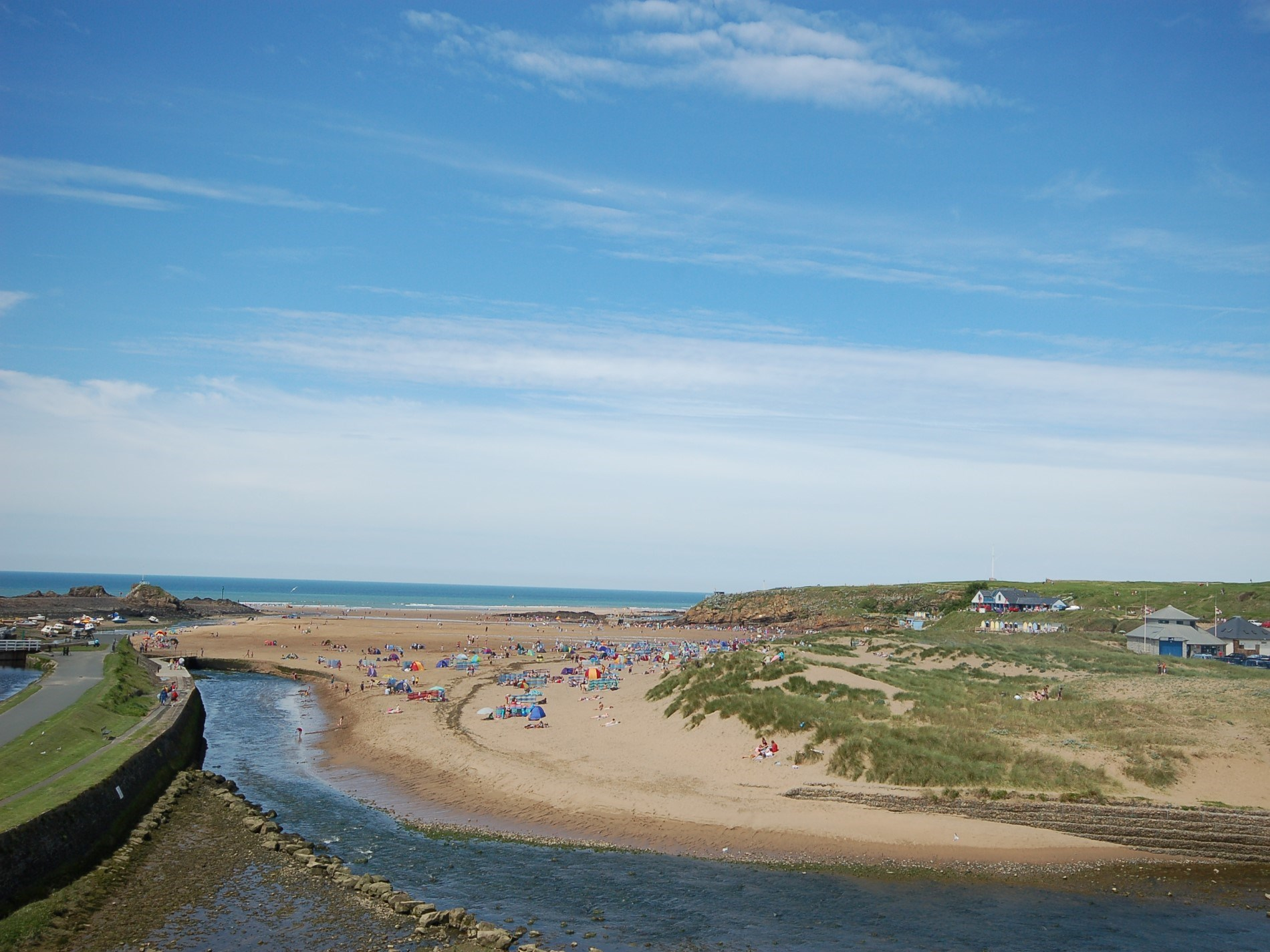 The sand beach at Bude is a short drive away