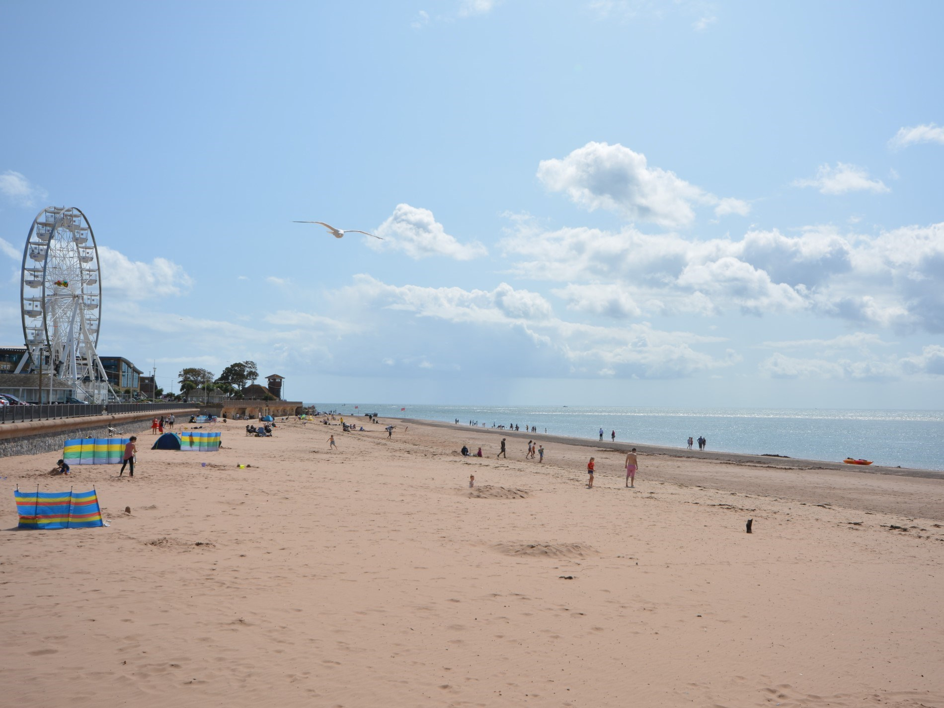 Spend a day on the beach, Exmouth approximately half an hour away