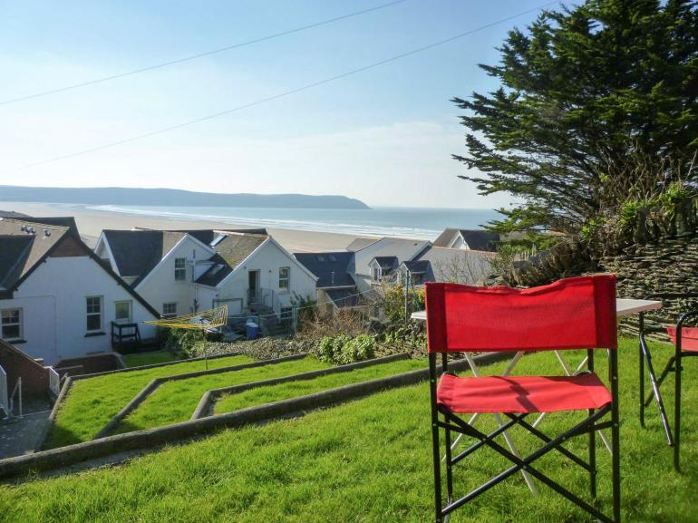 Sea view from the garden area