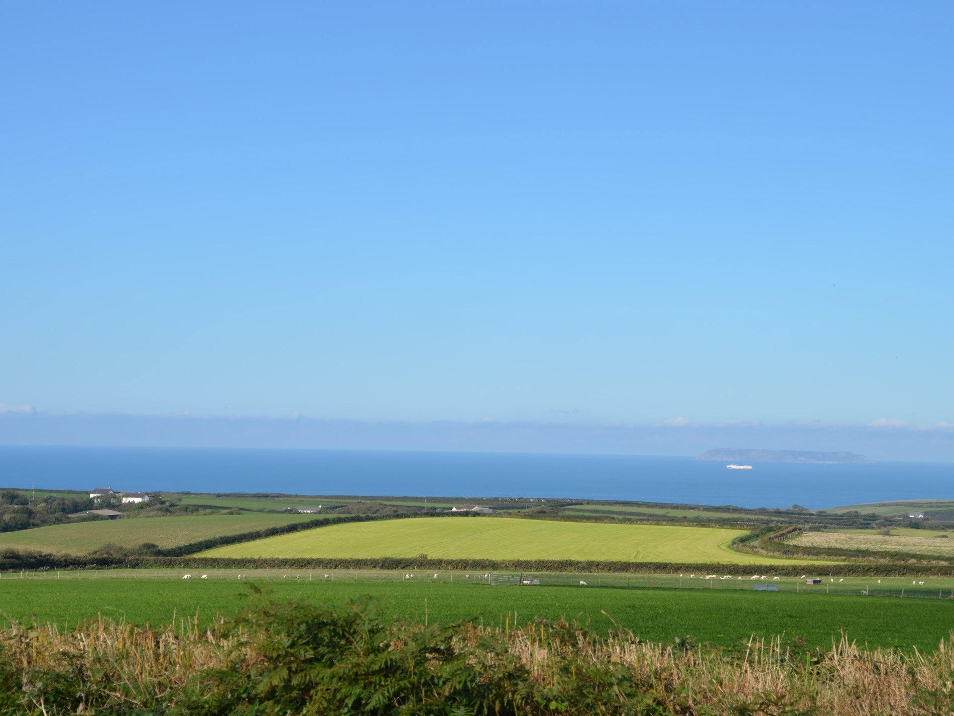 Nearby views of Bideford Bay and over to Lundy Island