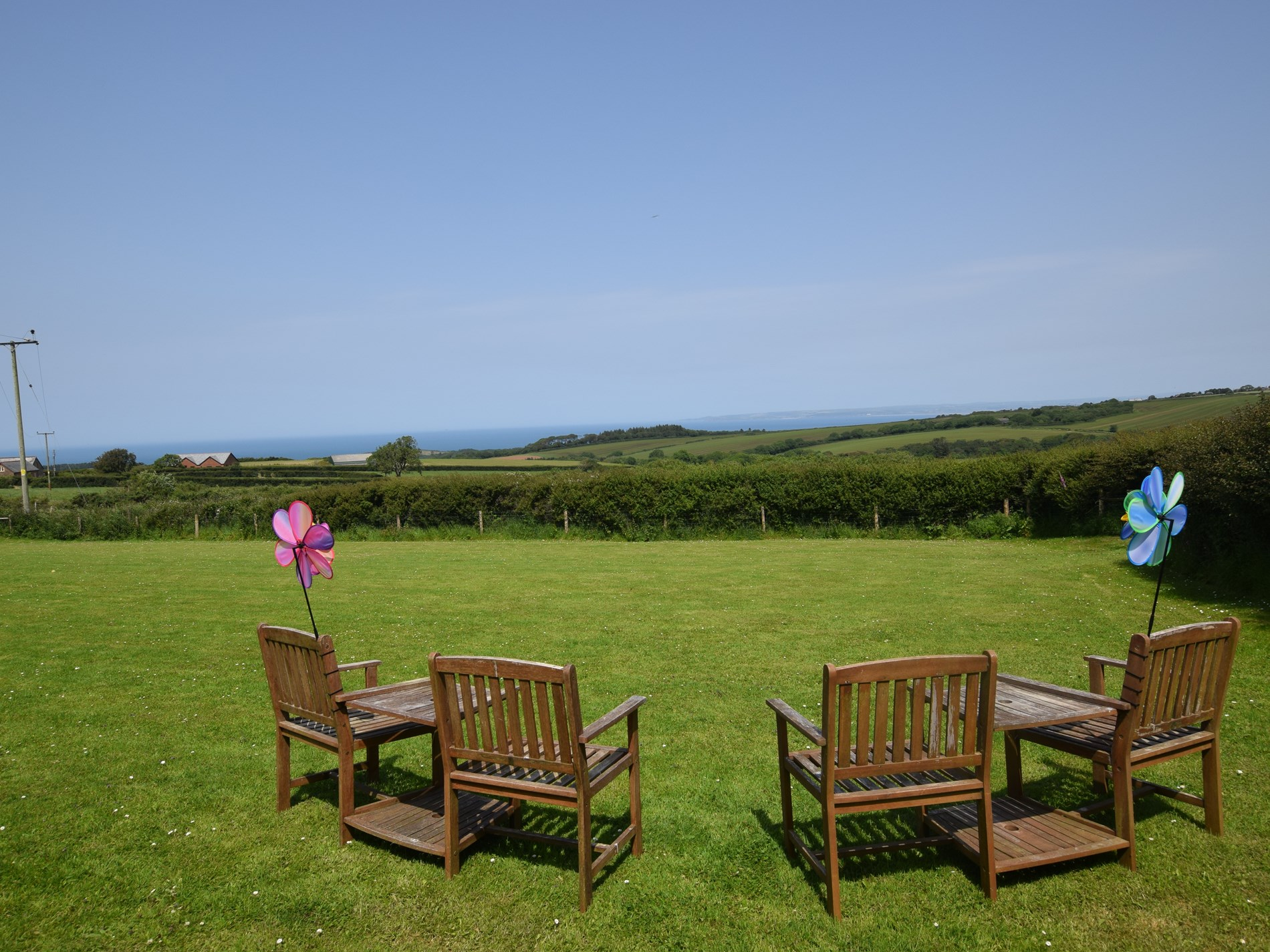 Sit back and admire the view from the dog exercising paddock