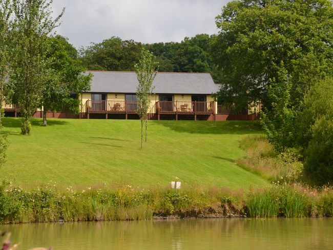 View towards the lodges and lakes
