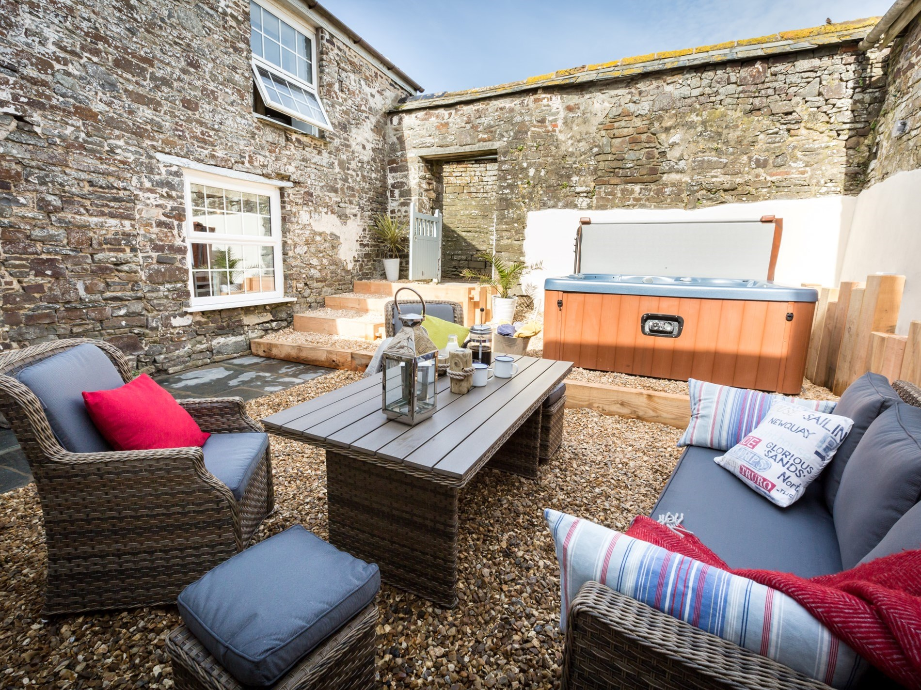 Sunny private courtyard, perfect for al fresco dining