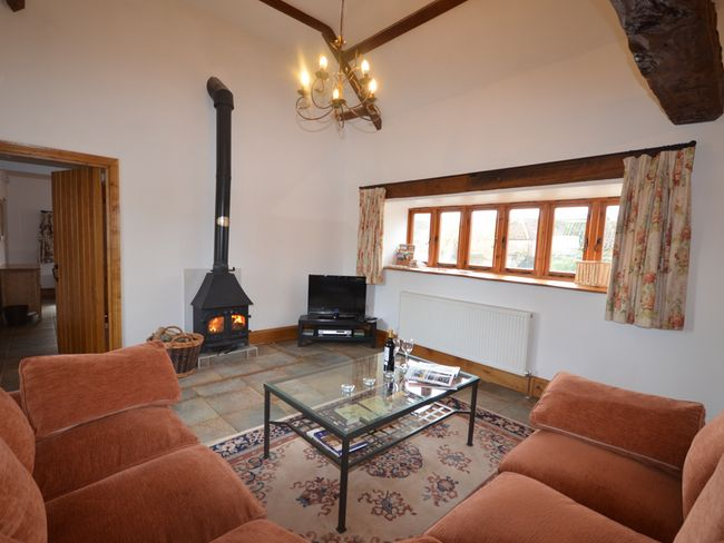 Lounge area with woodburner