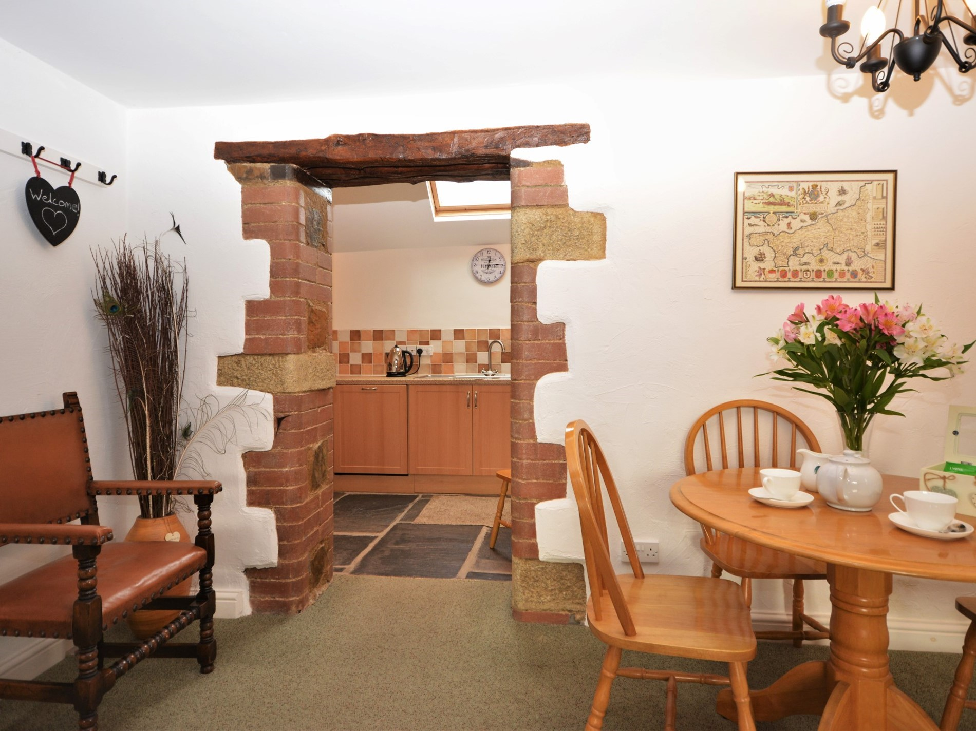 Dining area leading to the well equipped kitchen