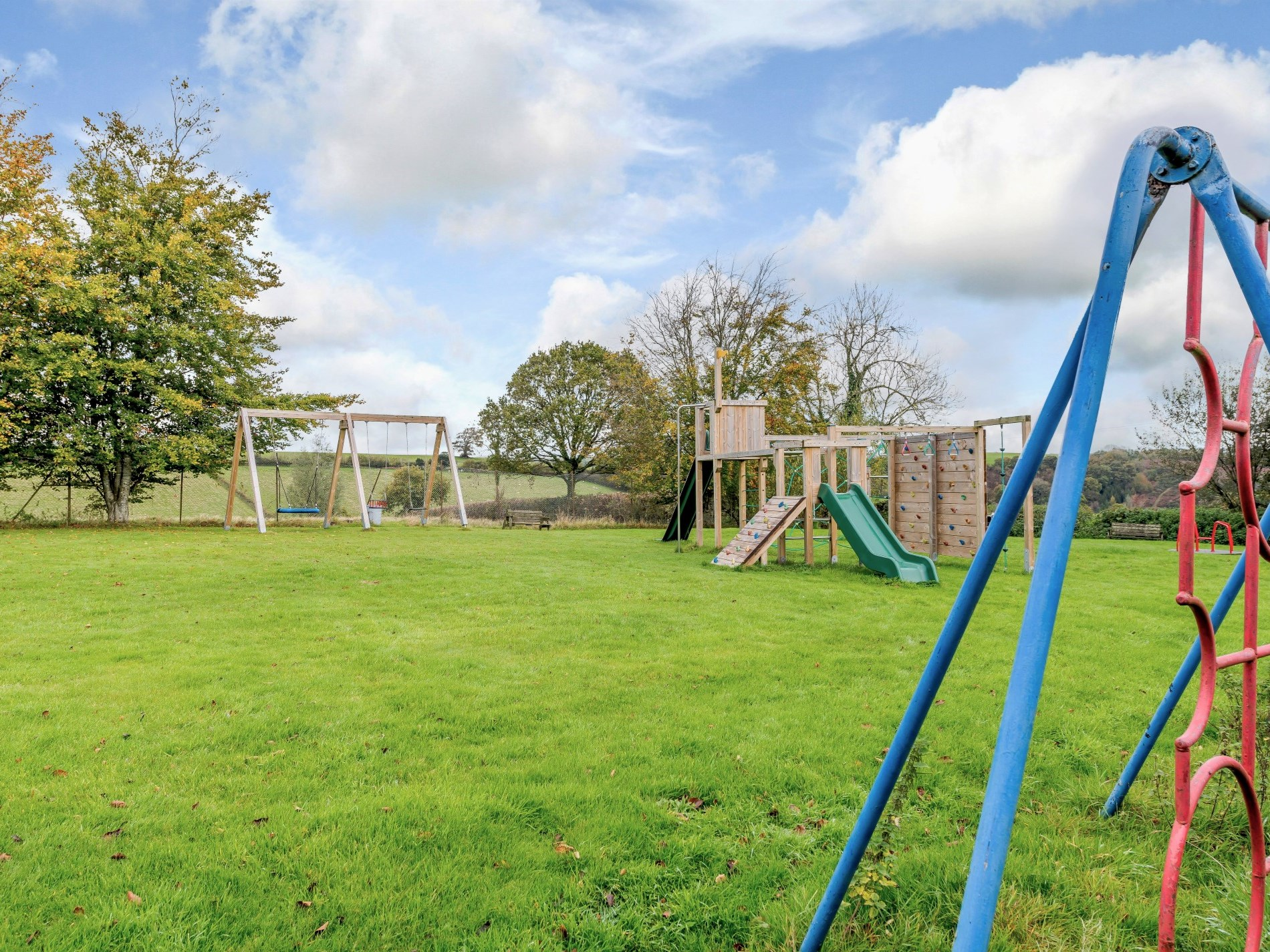 Village playground accessed through the owners garden