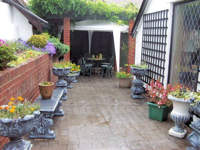 Private and enclosed patio area