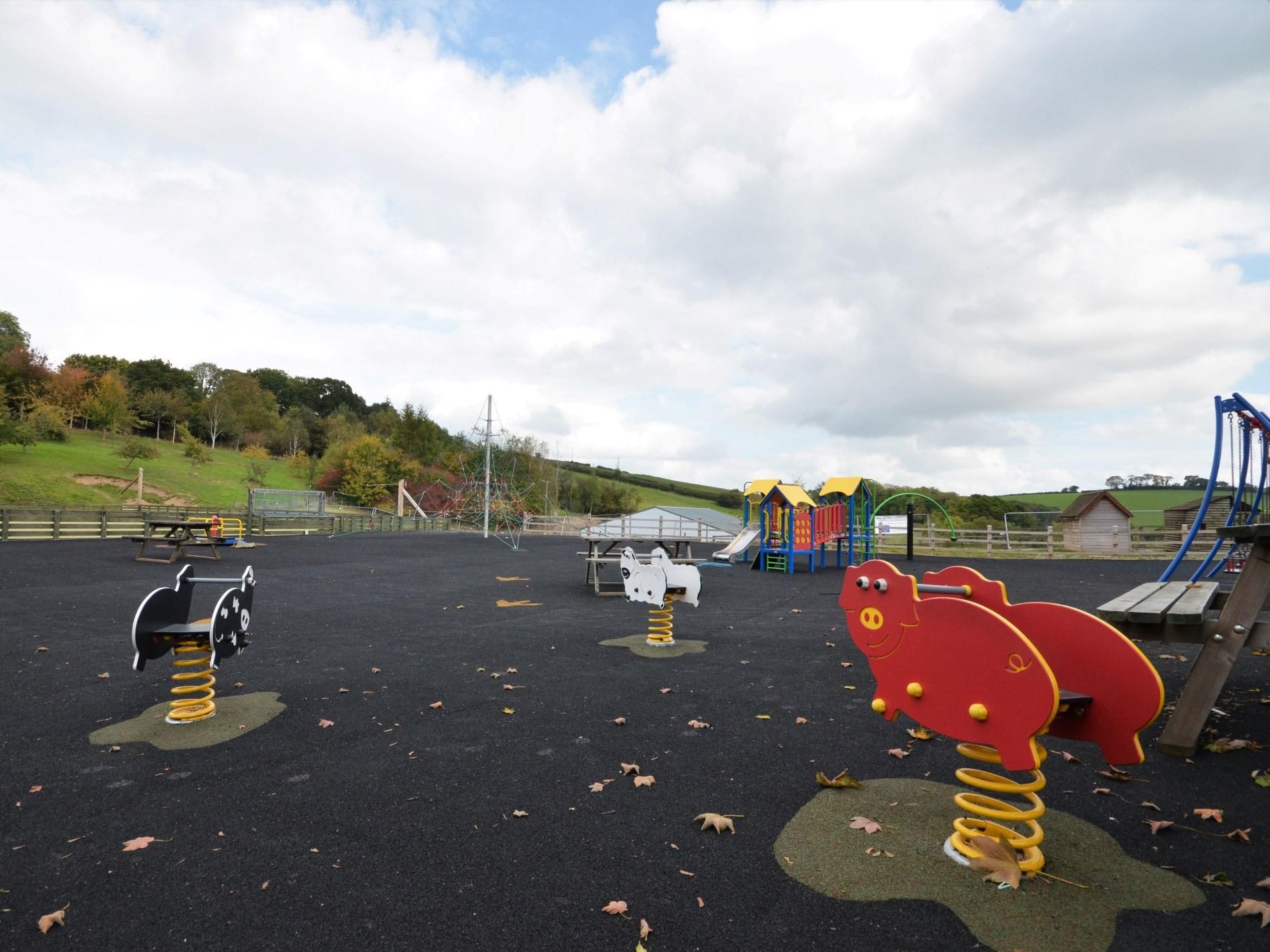 Enjoy the outside play area