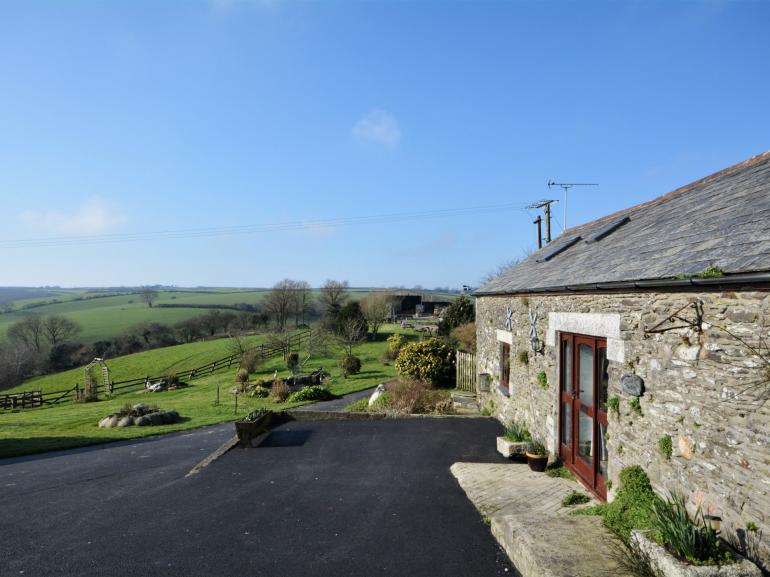 View towards the property with countryside views