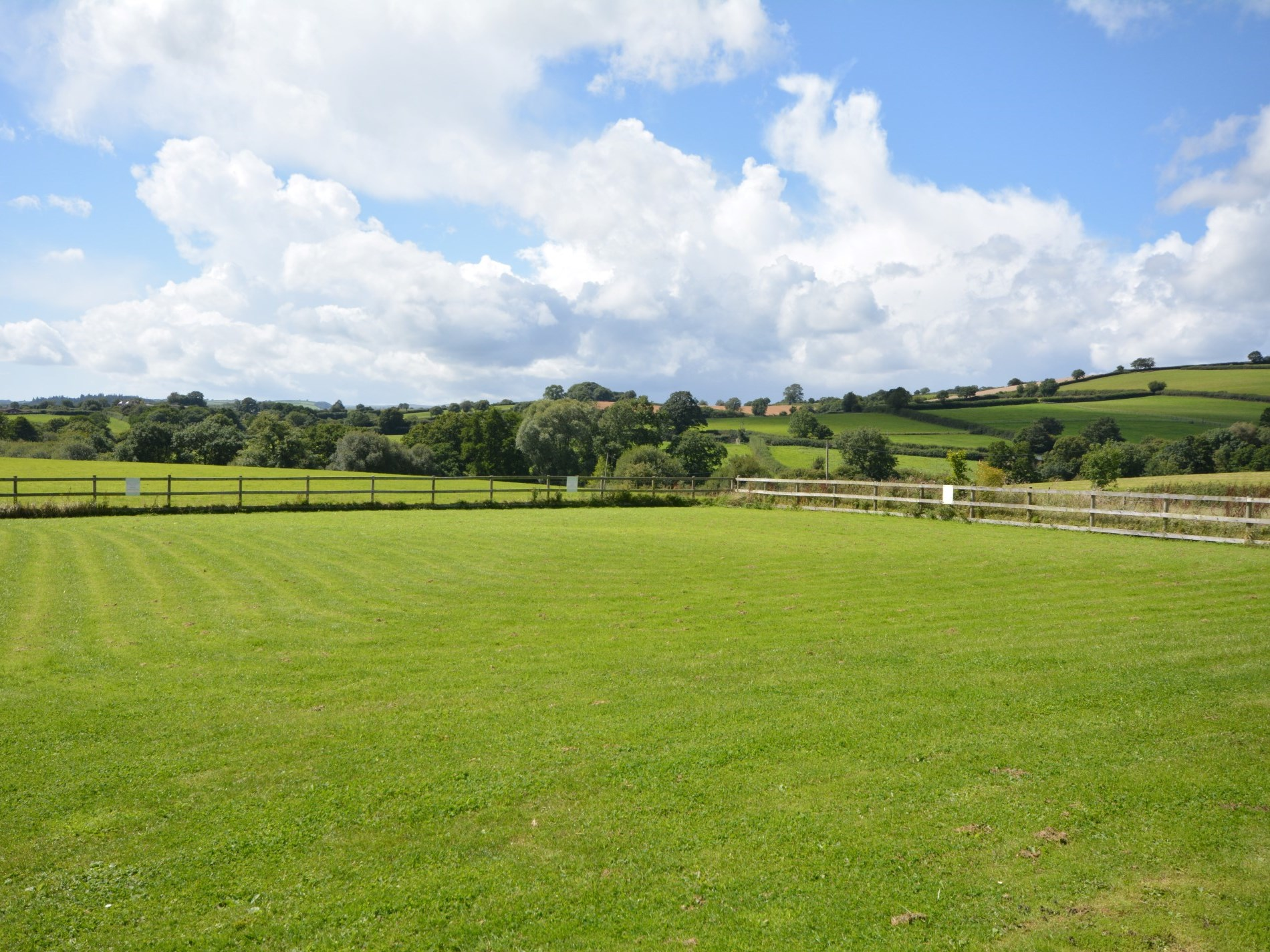 Fantastic countyside views across the children's play area