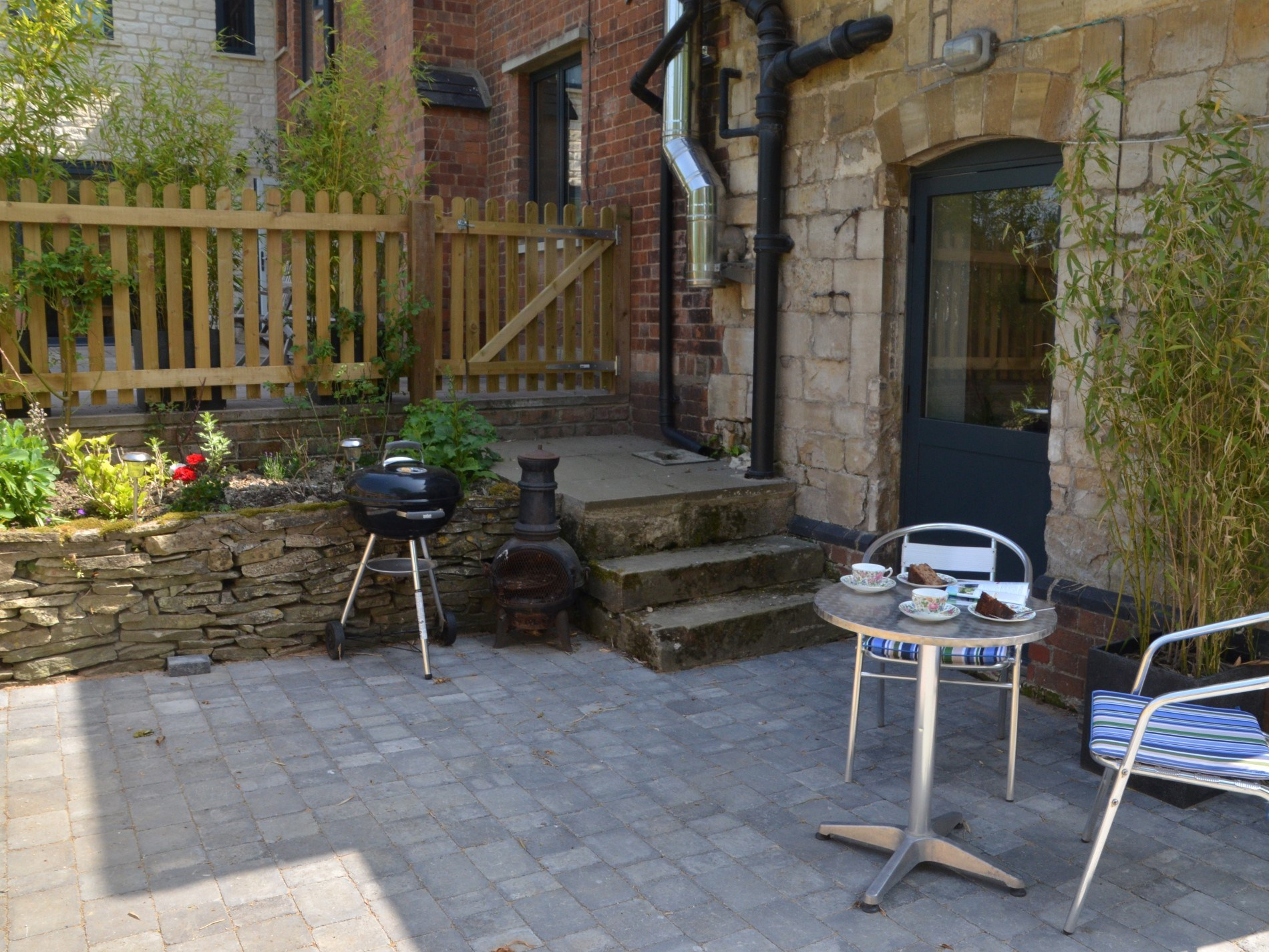 Private courtyard to enjoy a cup of tea or a glass of wine