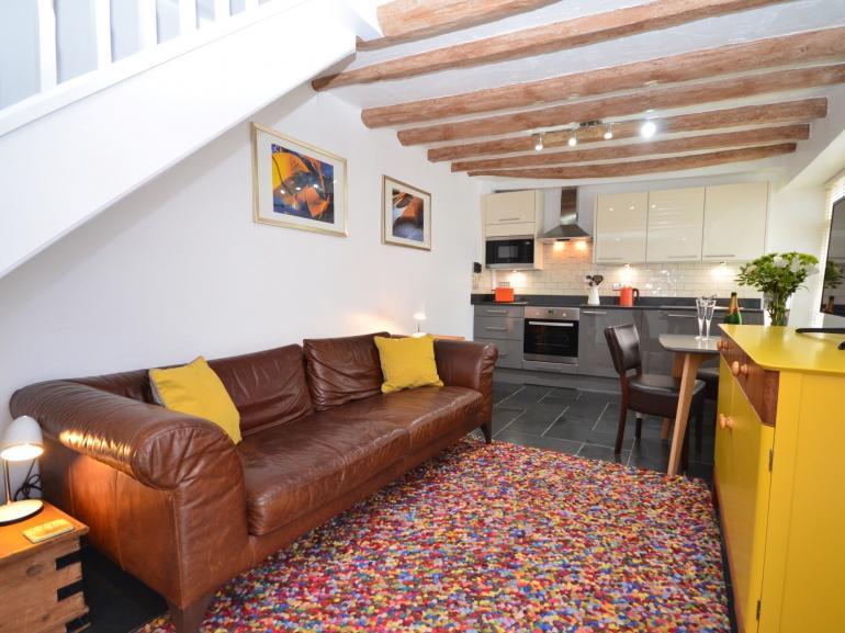 Open plan living arrangement