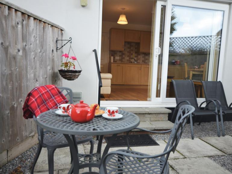 Enjoy having breakfast on the patio