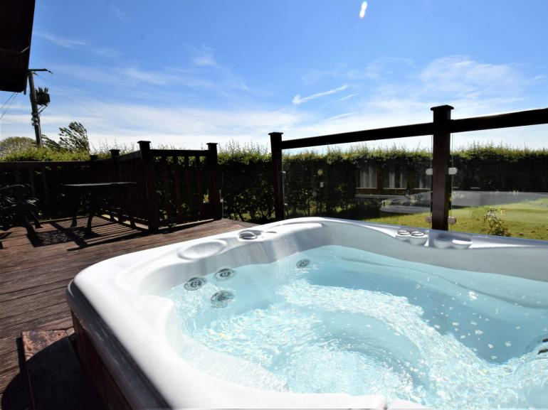 Relax in the fantastic hot tub