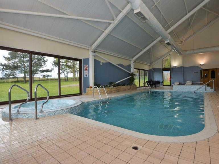 On site swimming pool, jacuzzi and sauna