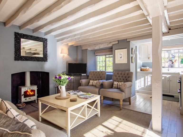 Enjoy relaxing in the lounge complete with a roaring woodburner