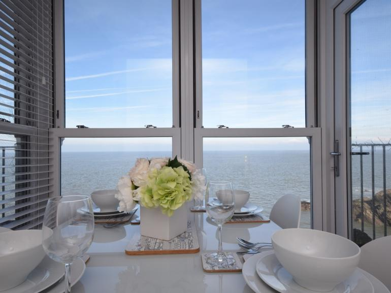 Enjoy the uninterrupted sea views whilst you dine