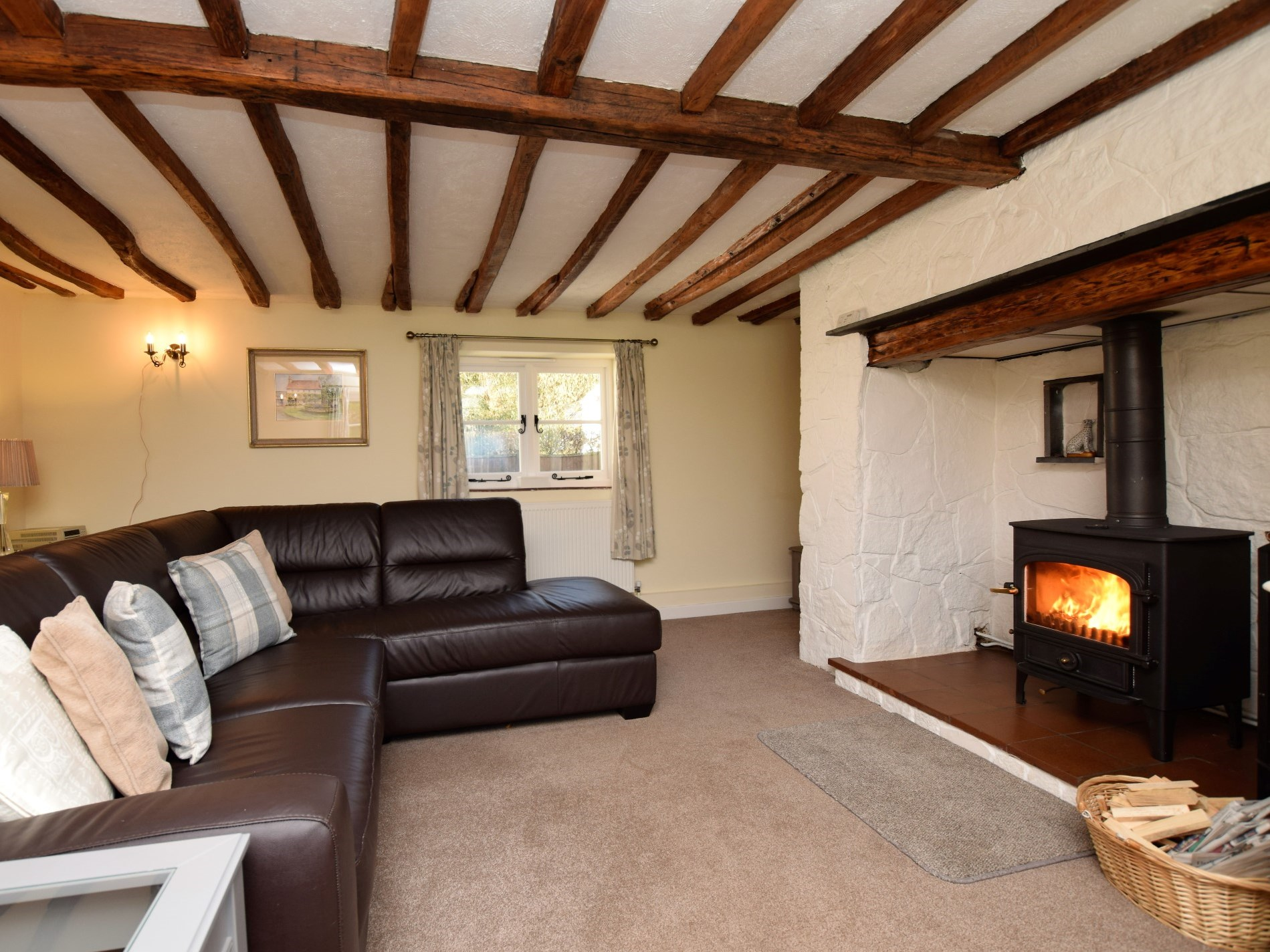 Warm your toes in front of the woodburner