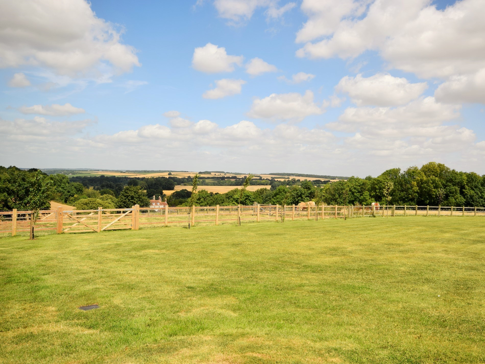 Views over the rolling countryside from the property