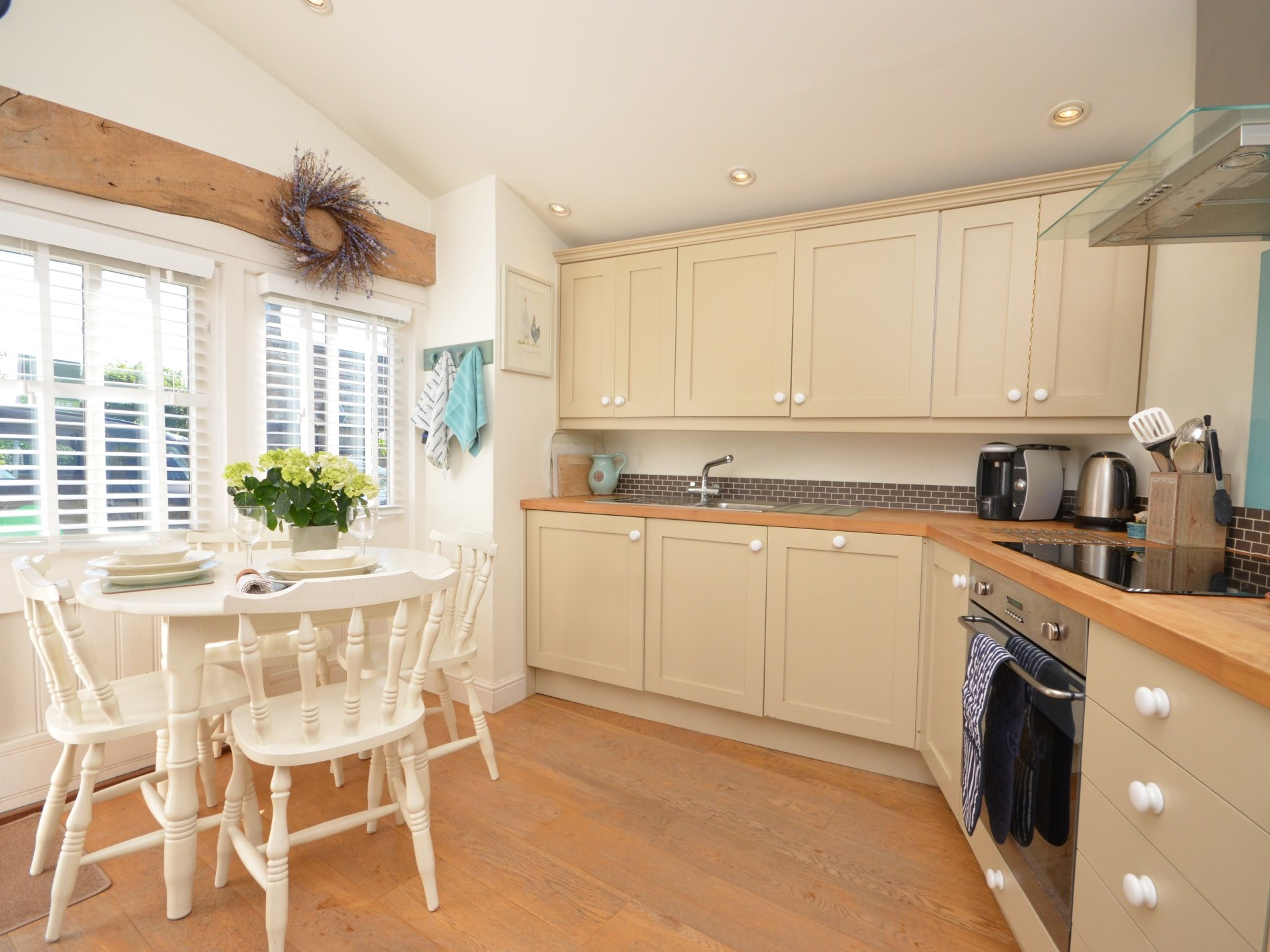 Lovely open plan kitchen and dining area