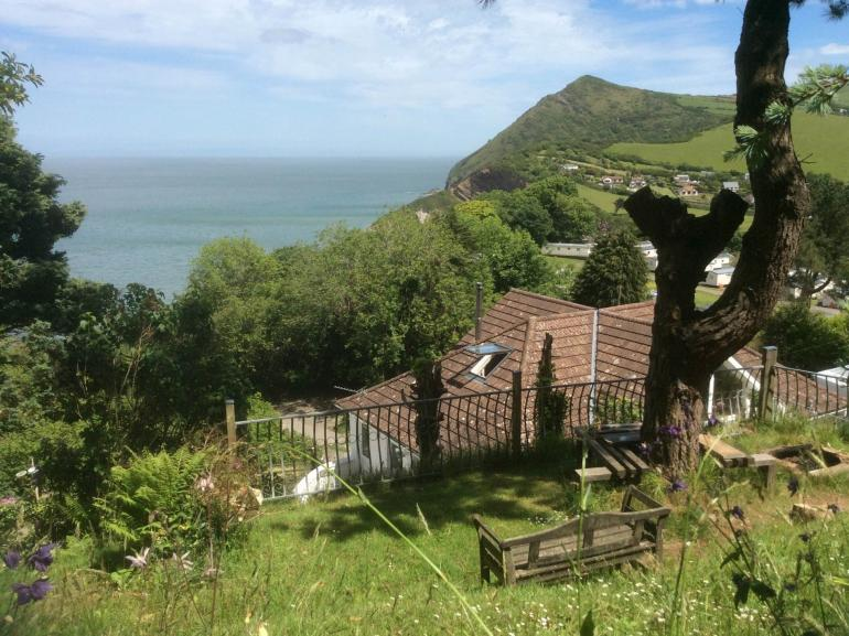 Sea views from the Owners hillside garden