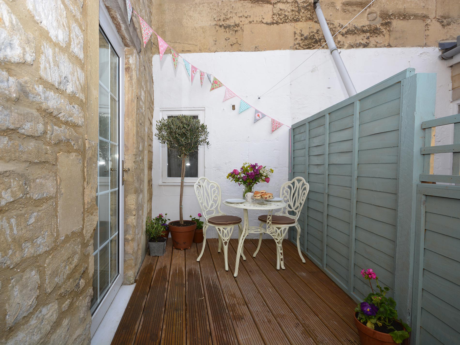 Enclosed decked area