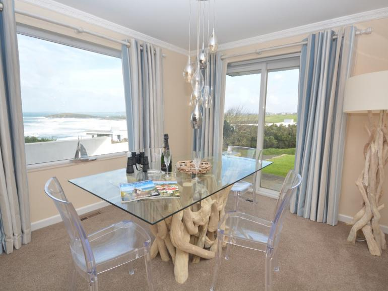 Dining area with fabulous views of the beach