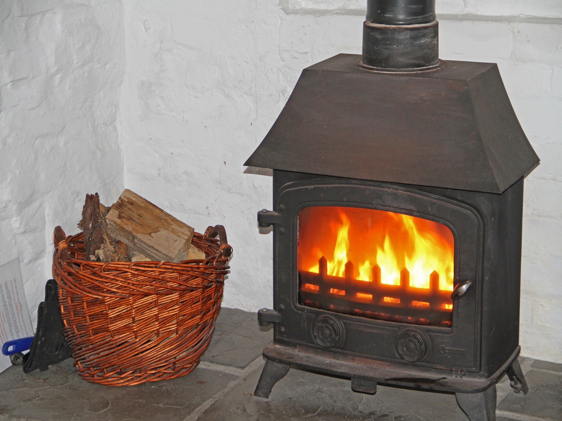 Cosy up beside the woodburner