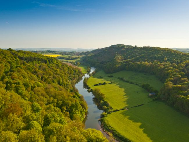The Wye Valley close by