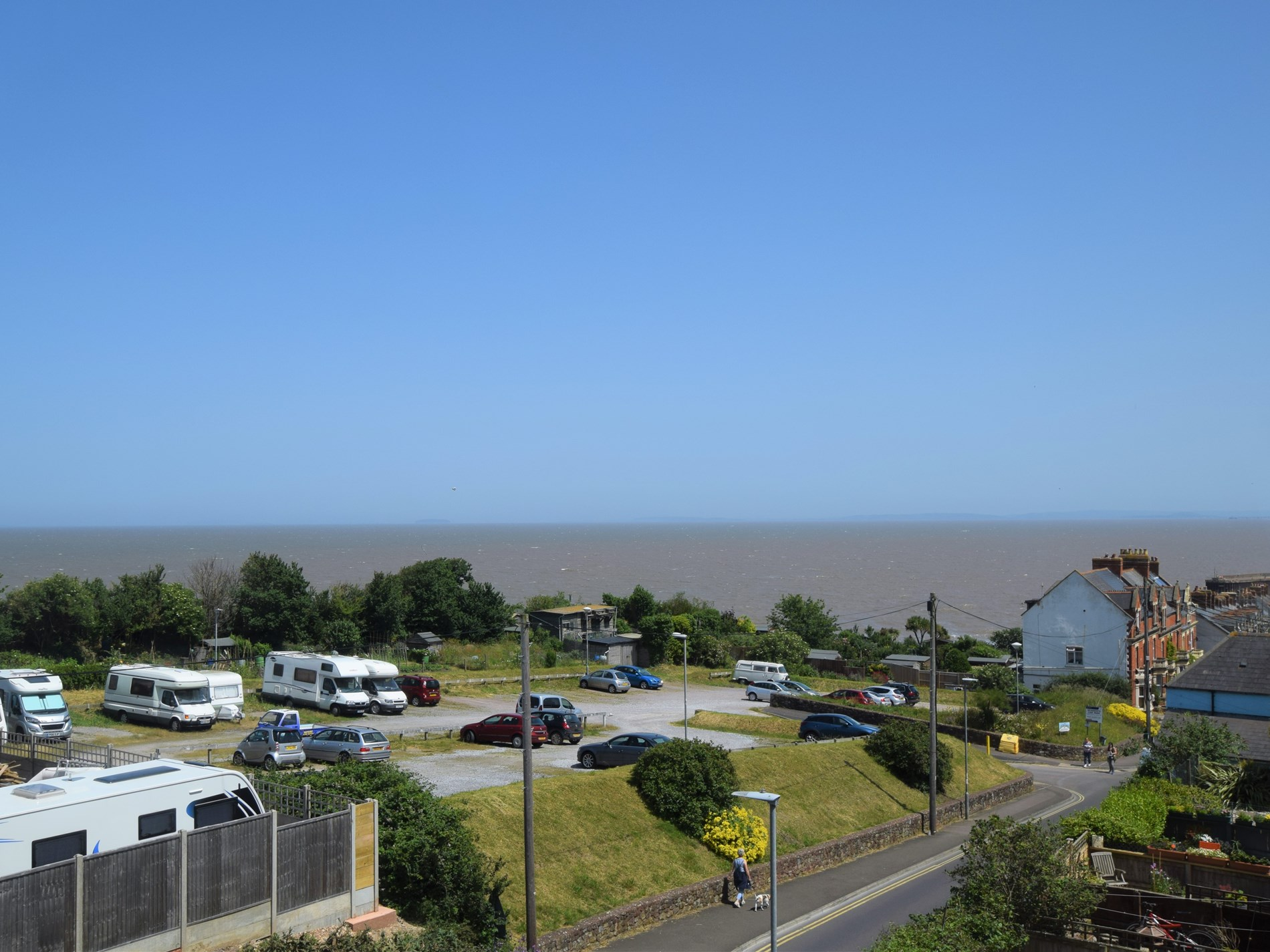 Fantastic sea views from the rear of the property