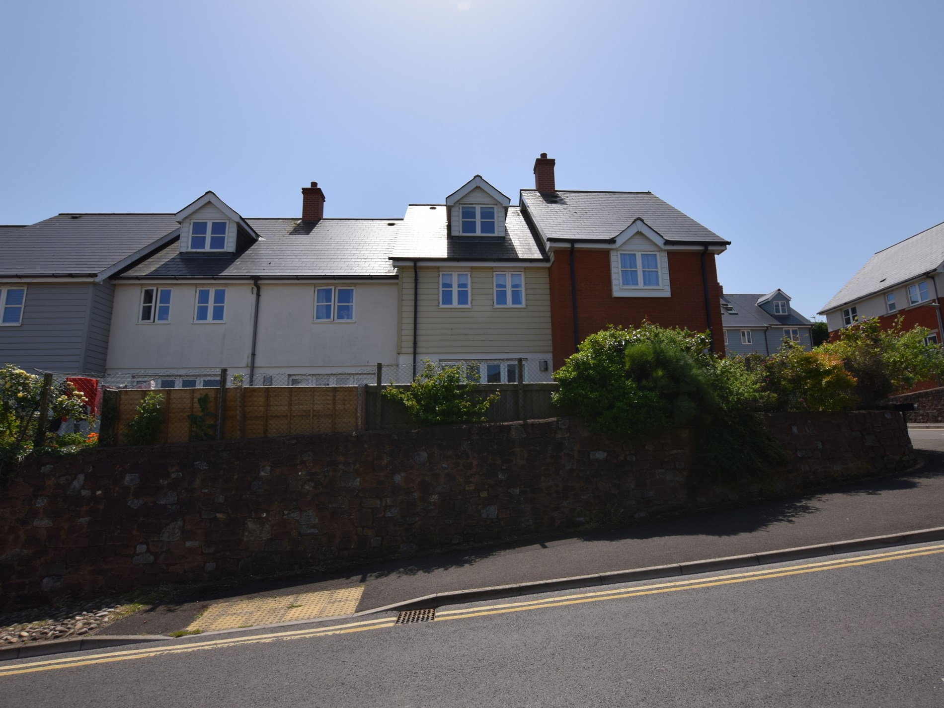 The rear of the property where you have sea views