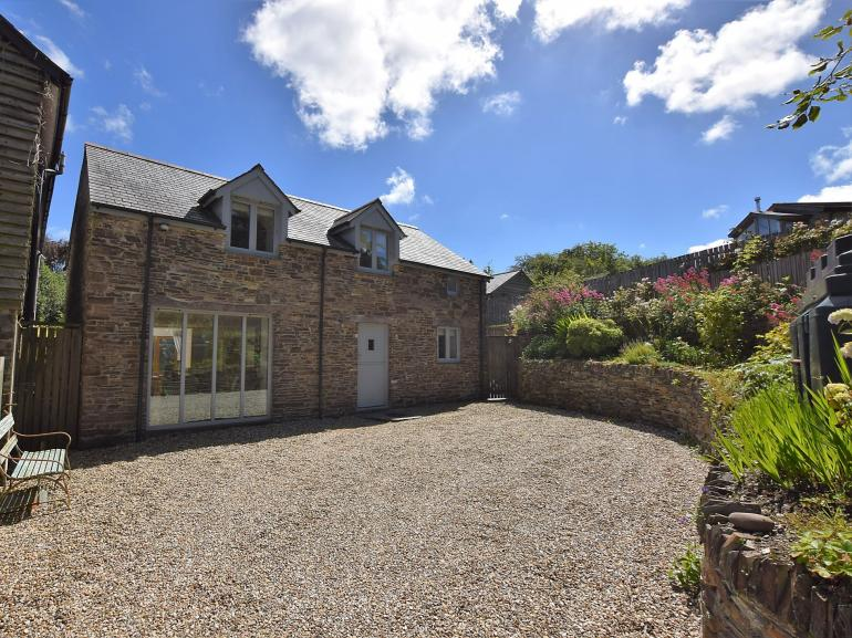 View towards this delightful property with private parking