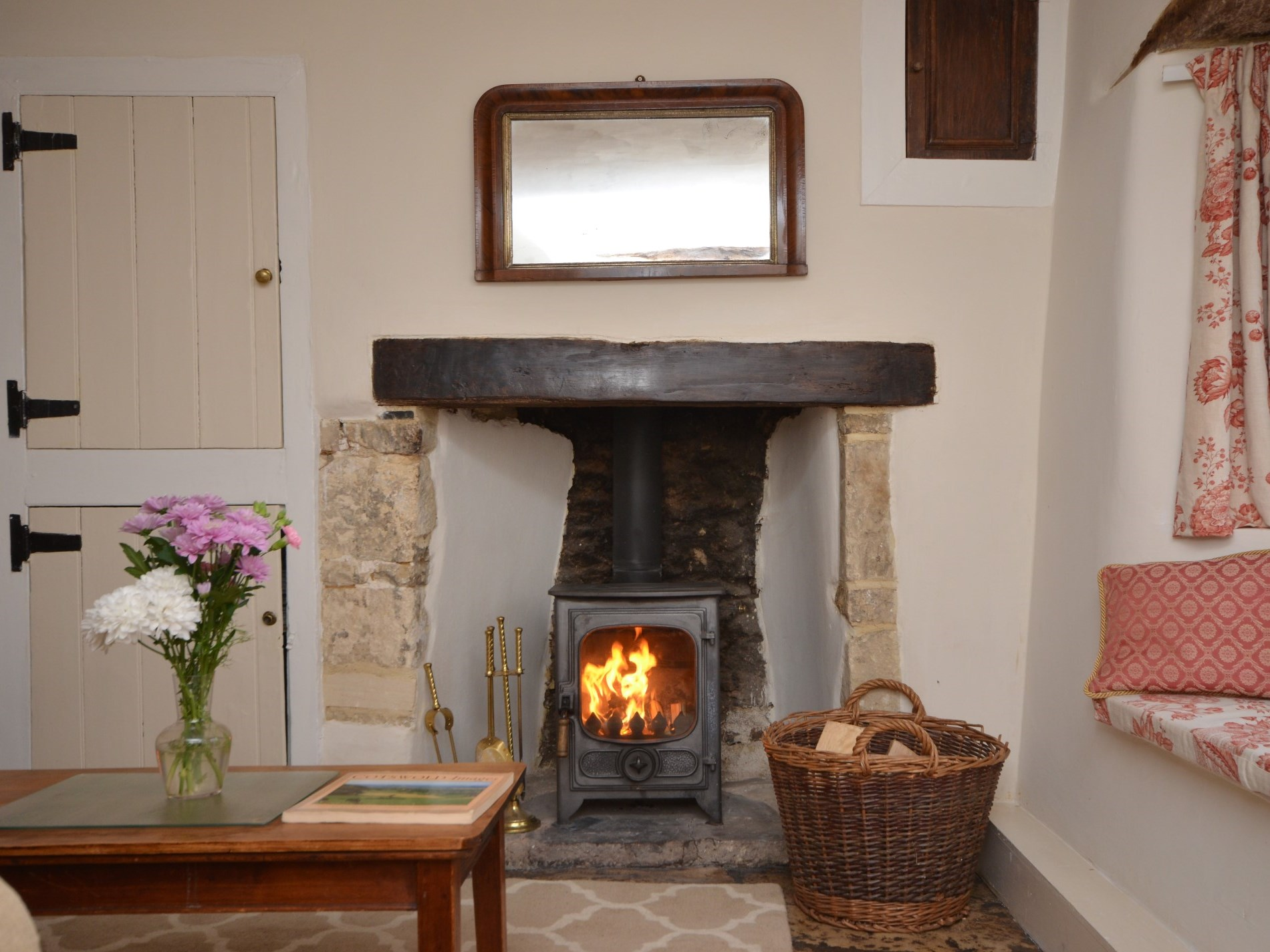 Cosy up infront of the wood burner after a day of exploring