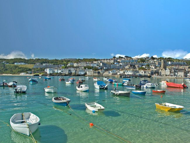 The picture-postcard harbour in St Ives