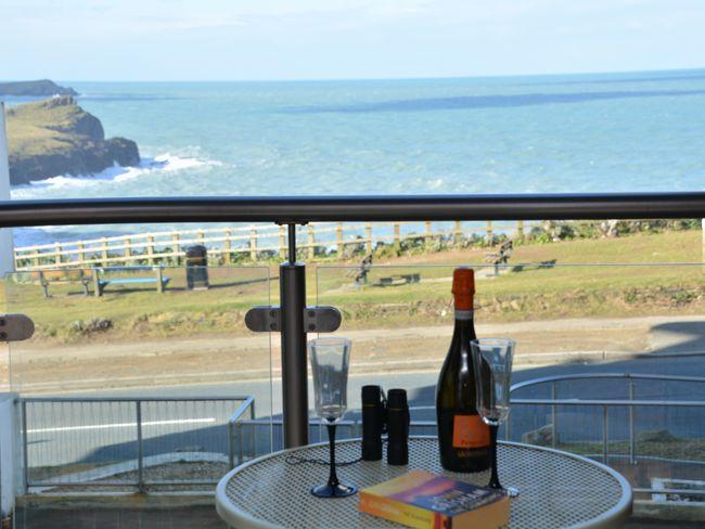 Enjoy the sea views from the balcony