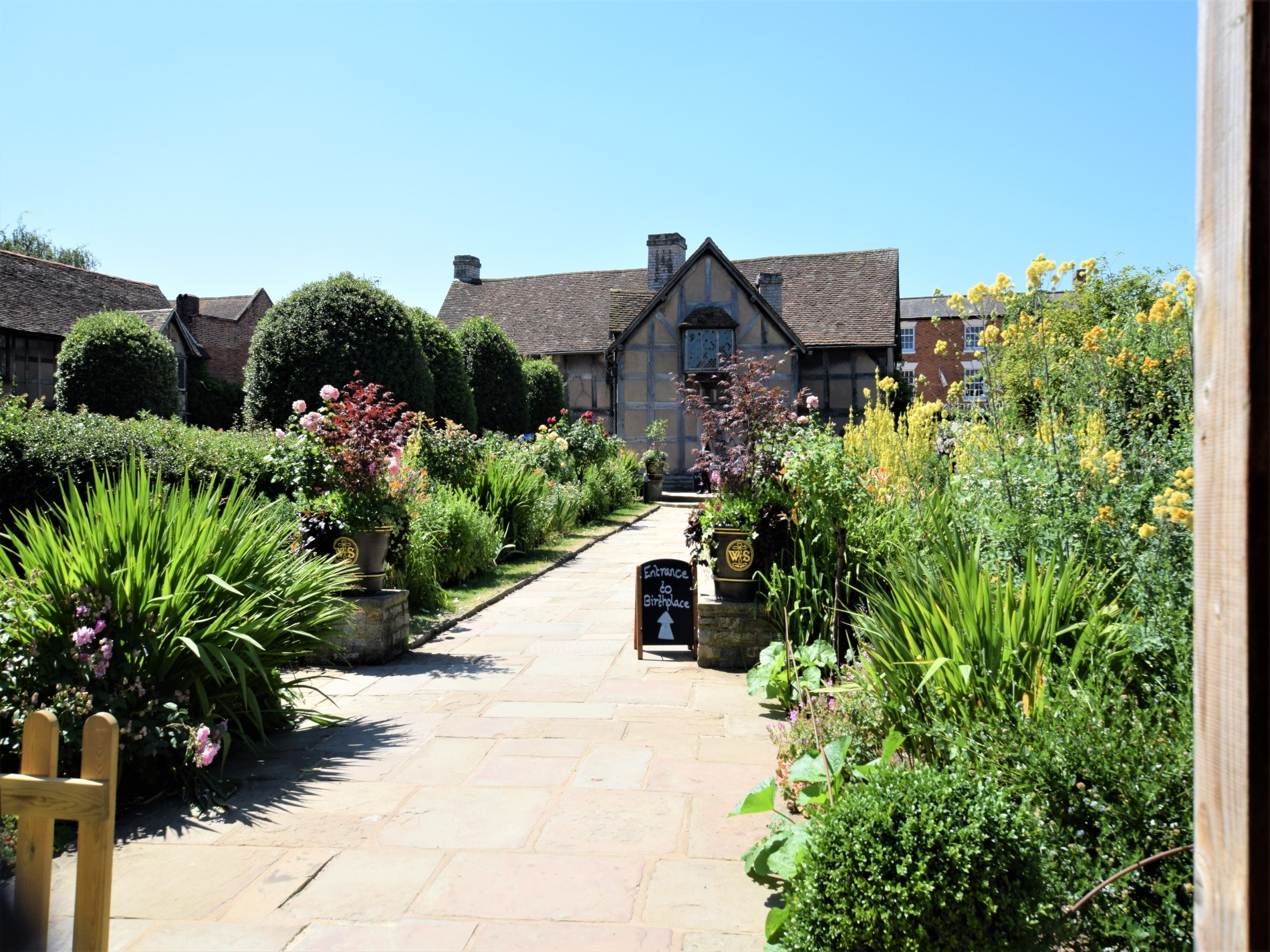 Shakespeare's birthplace is a short walk away